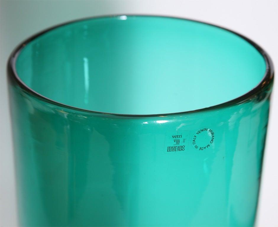 "Monumental Venini Murano Glass Vessel ""Munchen"" Laura Diaz de Santillana 3"