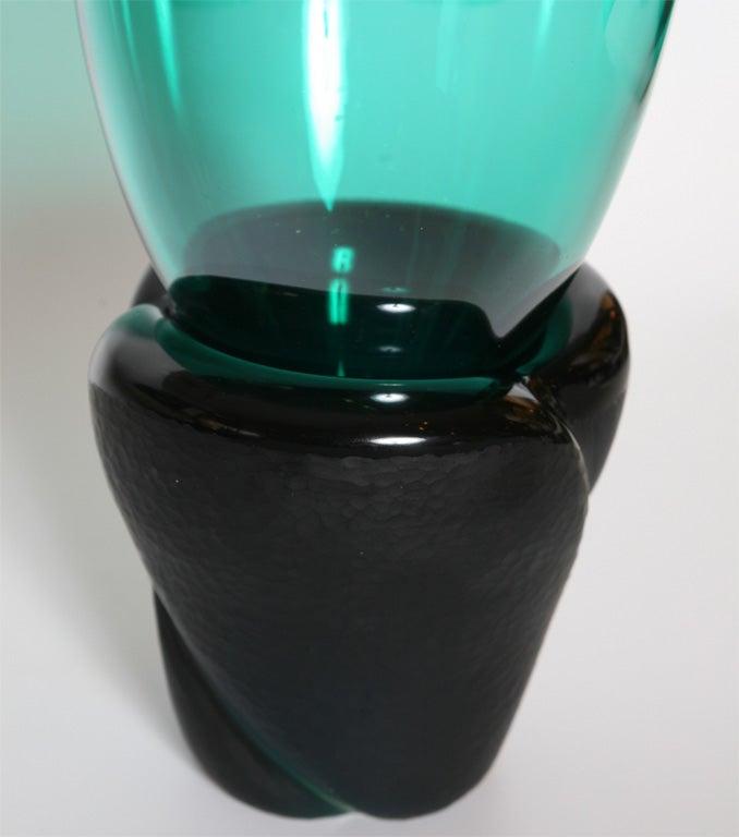 "Monumental Venini Murano Glass Vessel ""Munchen"" Laura Diaz de Santillana 4"