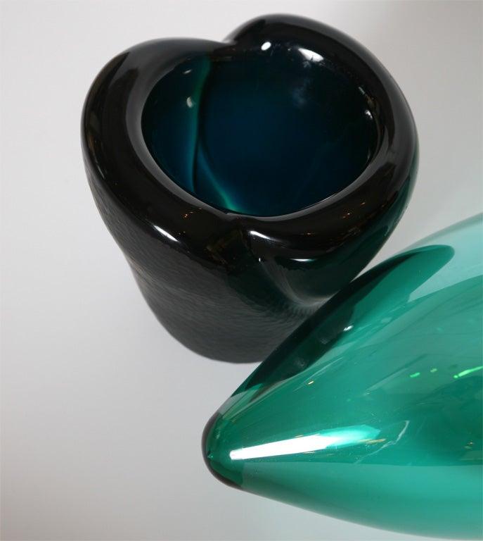 "Monumental Venini Murano Glass Vessel ""Munchen"" Laura Diaz de Santillana 8"