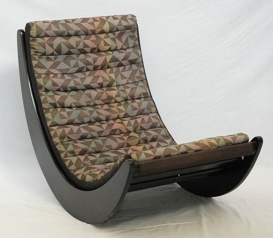 verner panton relaxer 2 rocking chair produced by rosenthal