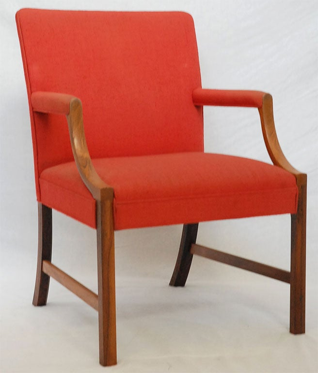 Ole Wanscher Rosewood armchair produced by A.J. Iversen.  Store formerly known as ARTFUL DODGER INC