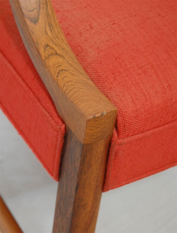 Danish Ole Wanscher Rosewood Armchair For Sale