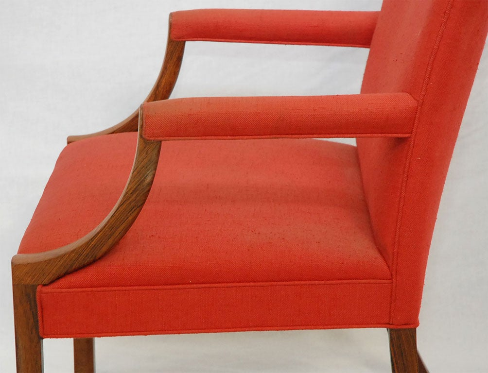 Fabric Ole Wanscher Rosewood Armchair For Sale