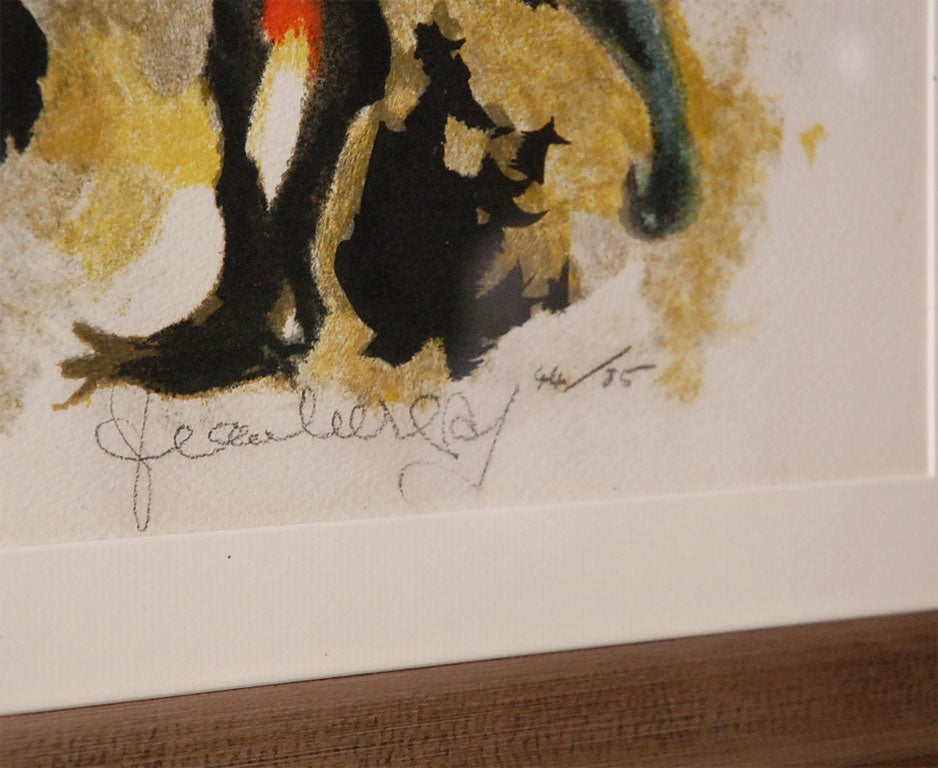 Signed and Numbered Etching by Jean Lurçat In Excellent Condition For Sale In Los Angeles, CA