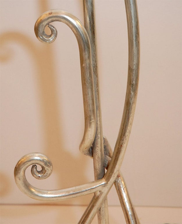 Art Nouveau Style White Gold Floor Lamp At 1stdibs