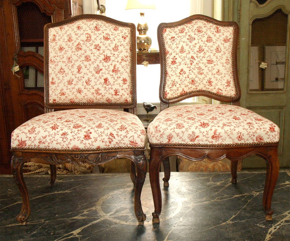 Pair of Regency Side Chairs.  They are slightly different from eachother, but make a lovely pair