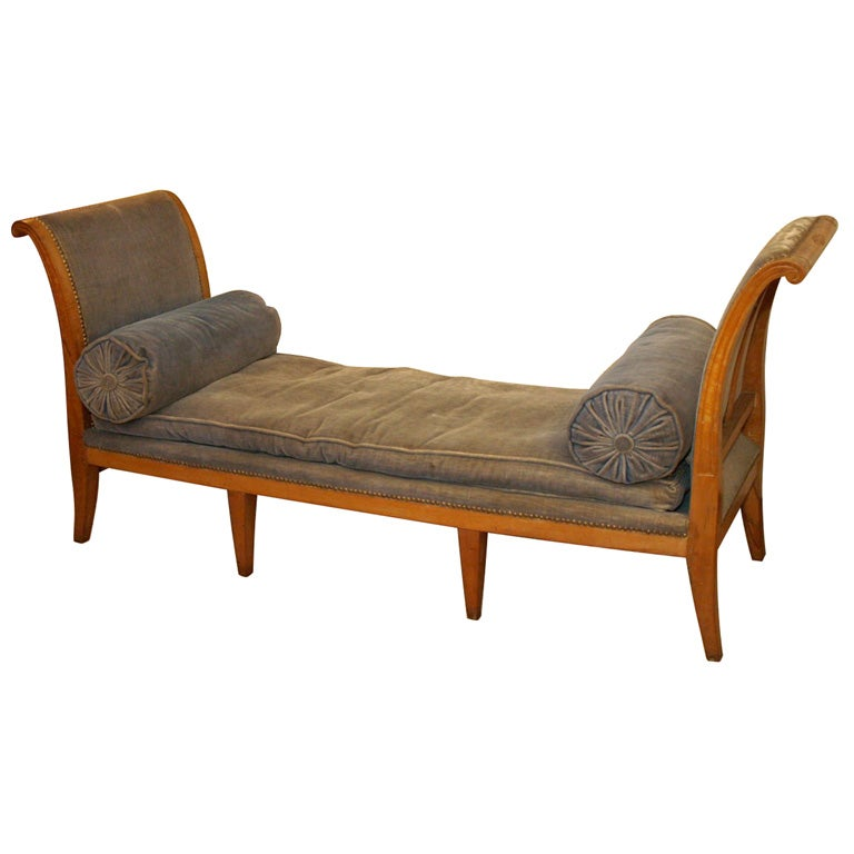 directoire lit de repos at 1stdibs. Black Bedroom Furniture Sets. Home Design Ideas
