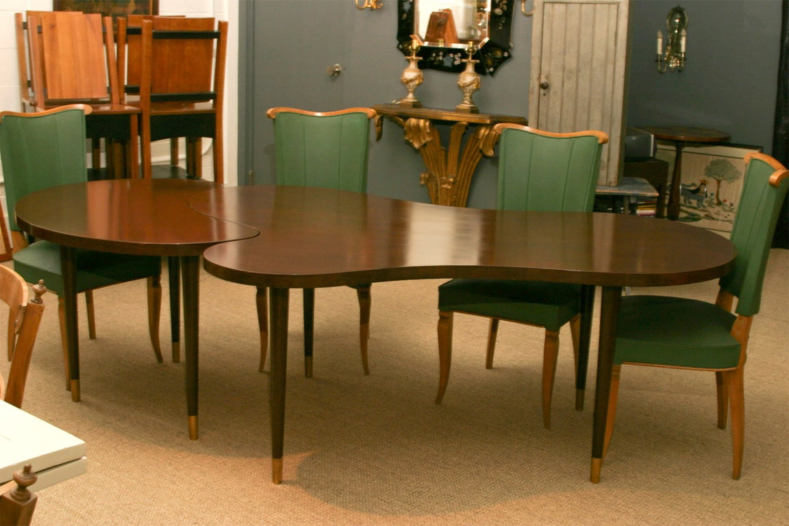 Walnut dining table with extension at 1stdibs - Dining room tables with extensions in design ...