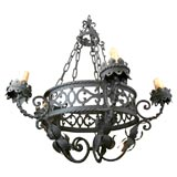 Pair of Wrought Iron Chandeliers