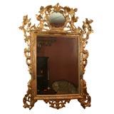 Large Louis XIV Giltwood Mirror, 19th Century