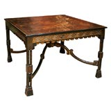 Chinese Export Black Lacquered Panel Low Table