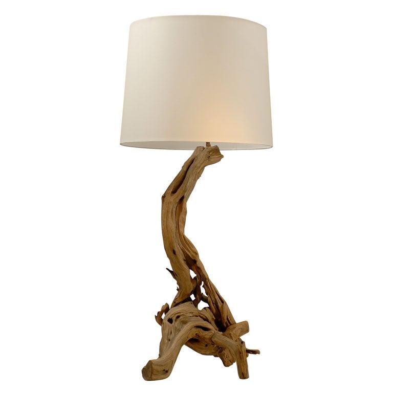 Driftwood Lamp At 1stdibs