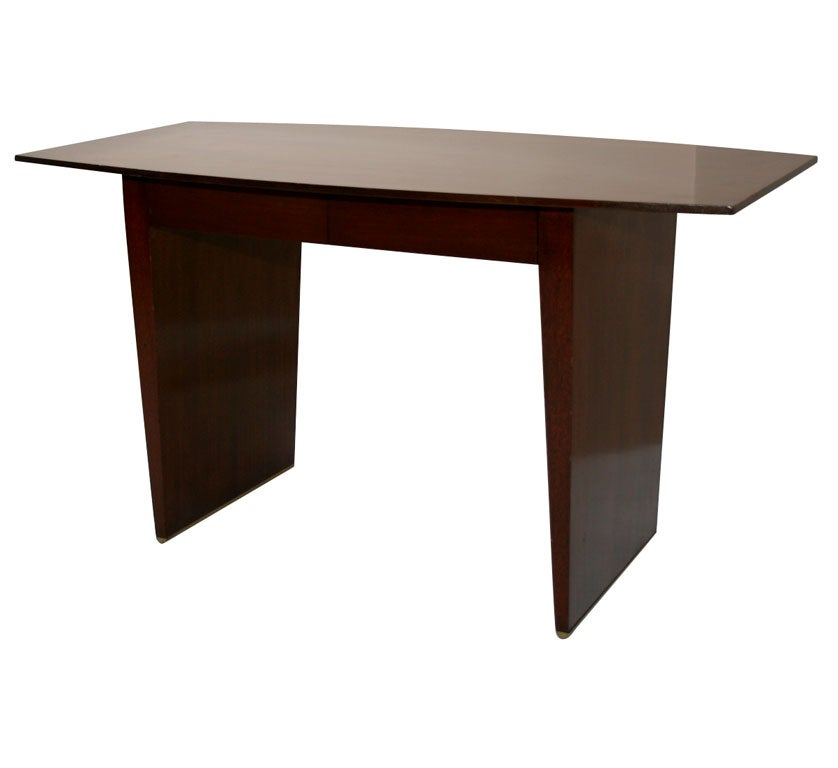 Boat Form Writing Table Desk by Harvey Probber
