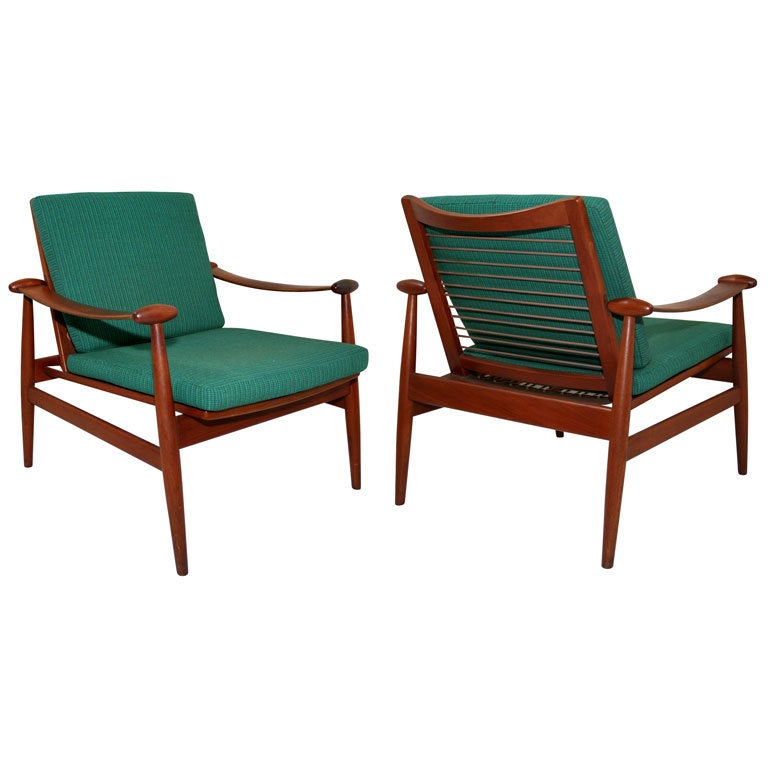 Pair of Spade Easy Chairs by Finn Juhl for France and Sons