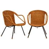 Italian Wicker Chairs