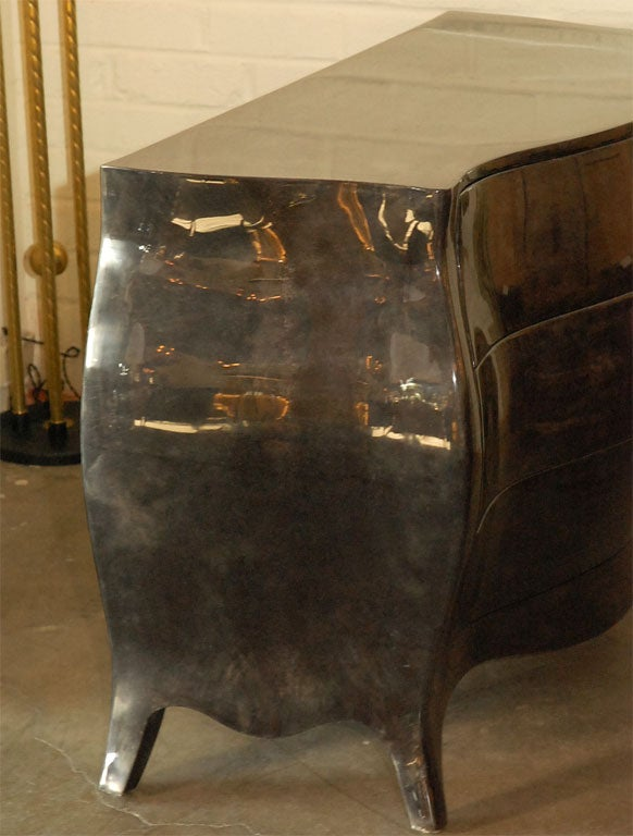 Bombay-Style Chest in Dark Gray Parchment 10