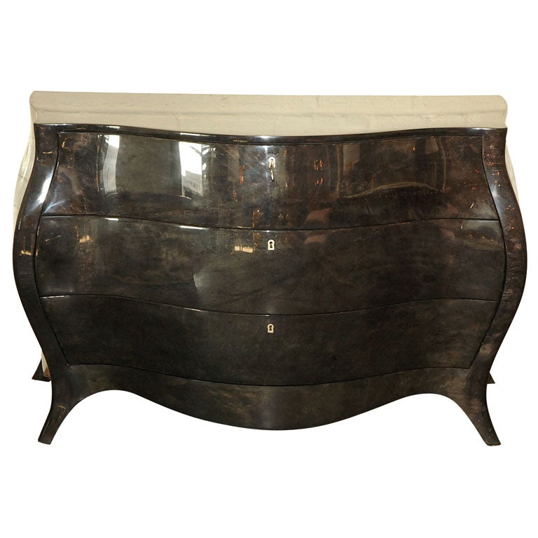 Bombay-Style Chest in Dark Gray Parchment