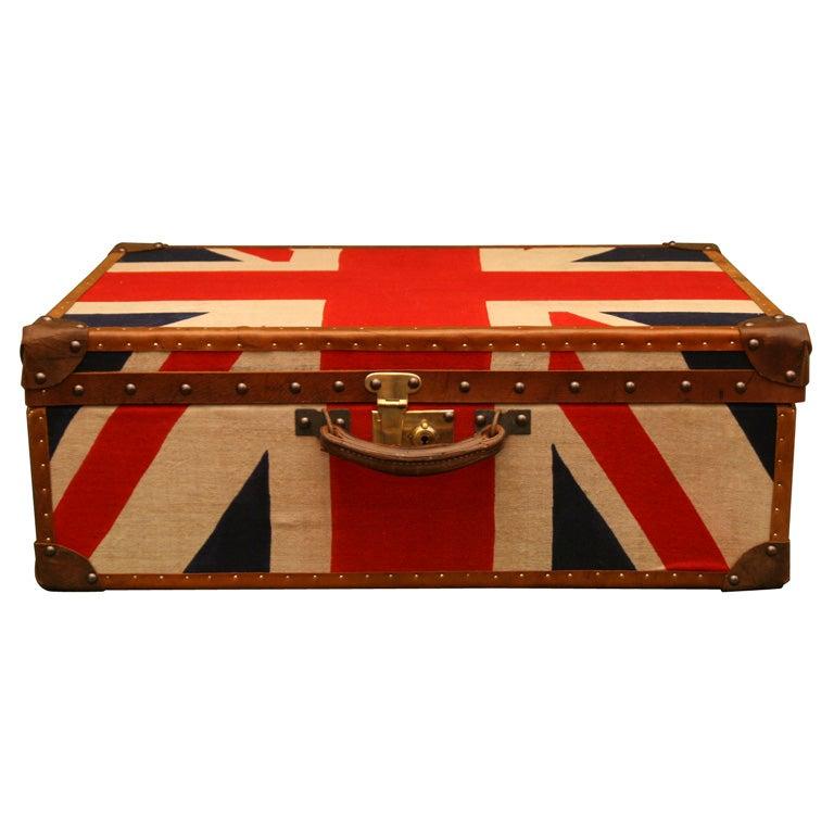 union jack suitcase england c 1930 at 1stdibs