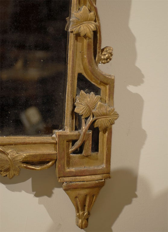 Gilt Wood Mirror With Neoclassical Motifs Italy C 1780