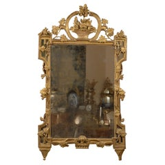 Gilt-wood Mirror with Neoclassical Motifs, Italy c. 1780