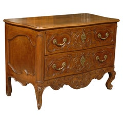 Louis XV Period Serpentine Commode in Walnut, France c. 1750