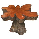 Rustic Cypress Tree Slab Table