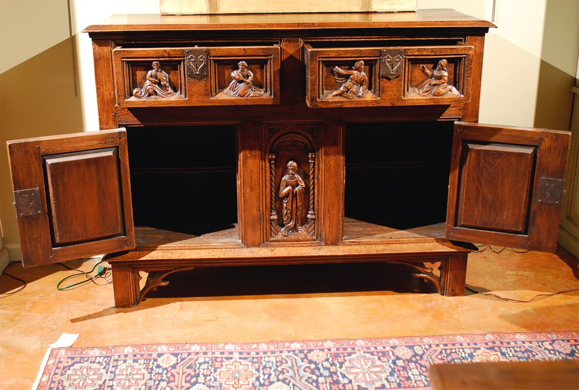 Gothic Style Buffet Circa 1880 At 1stdibs