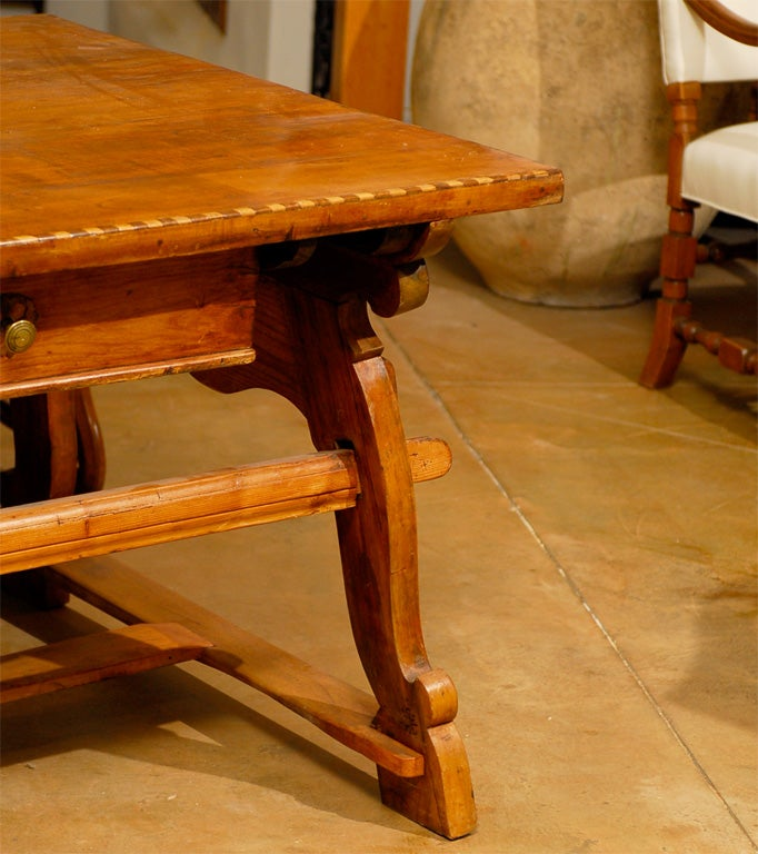 18th Century Tyrolean table desk with one drawer image 4