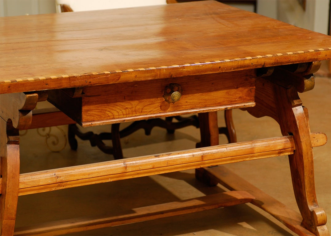 18th Century Tyrolean table desk with one drawer image 5