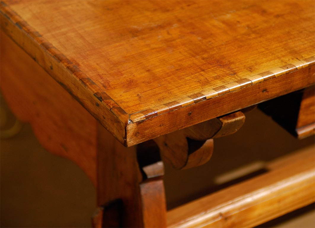 18th Century Tyrolean table desk with one drawer image 6