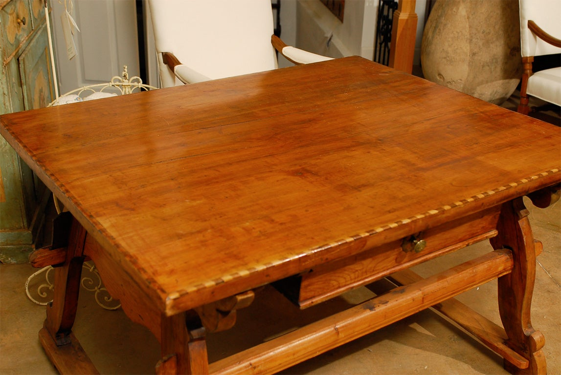 18th Century Tyrolean table desk with one drawer image 7