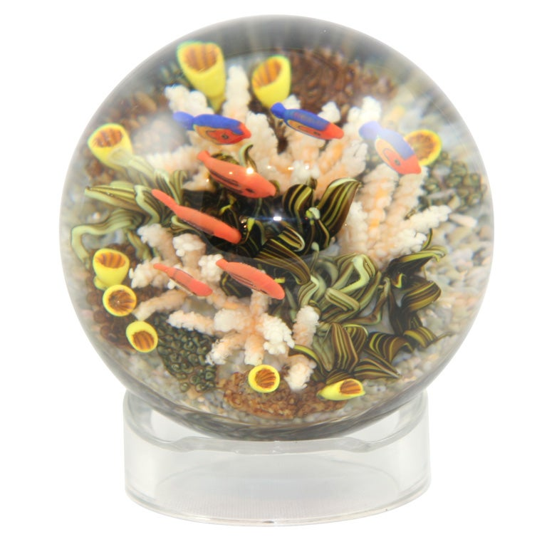 Cathy Richardson Sea Life Paperweight At 1stdibs