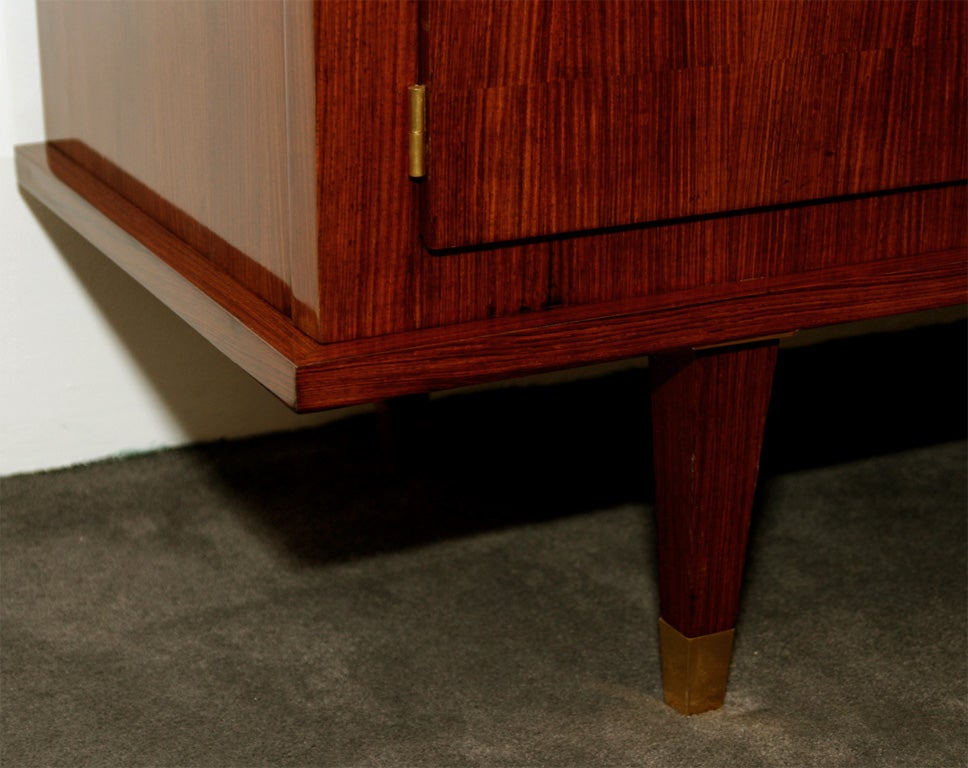 Four door mahogany sideboard by leleu at 1stdibs for Chambre de commerce new york