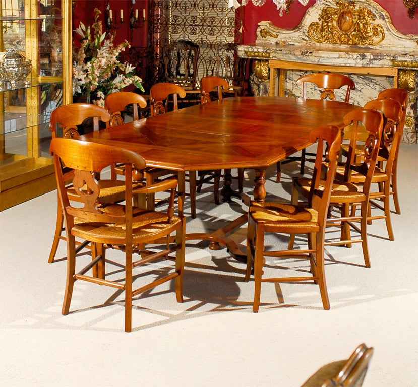 French Dining Room Set: Country French Dining Table And Chairs For Sale At 1stdibs