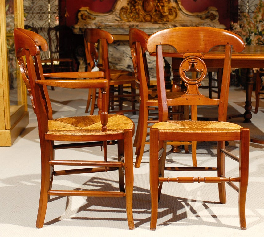 French Country Dining Table And Chairs: Country French Dining Table And Chairs For Sale At 1stdibs