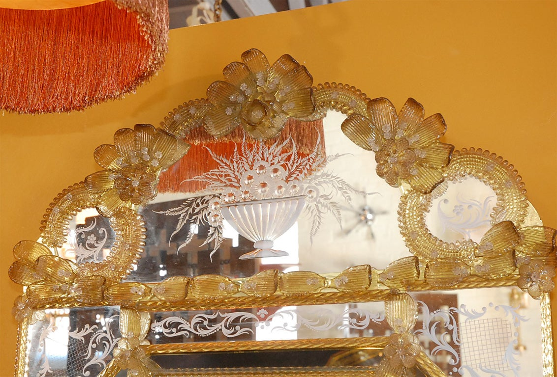 Rococo Large Venetian Mirror For Sale