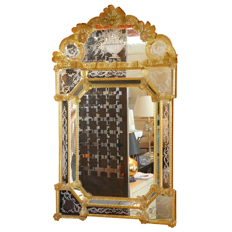 Large Venetian Mirror For Sale