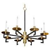 Paul Marra Design Greek Key Chandelier in Brass