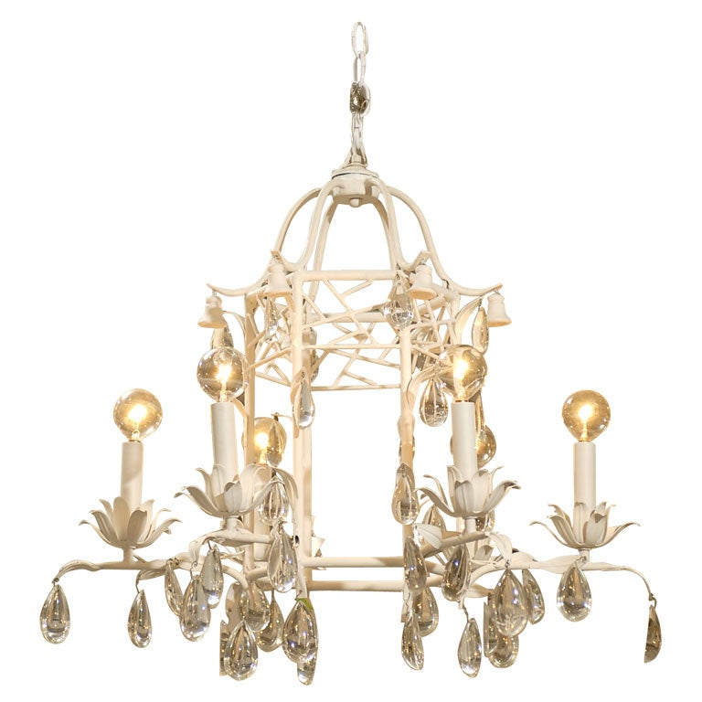 Chippendale Crystal Chandelier At 1stdibs