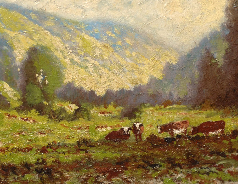 California Impressionist Landscape Painting by Carl ...