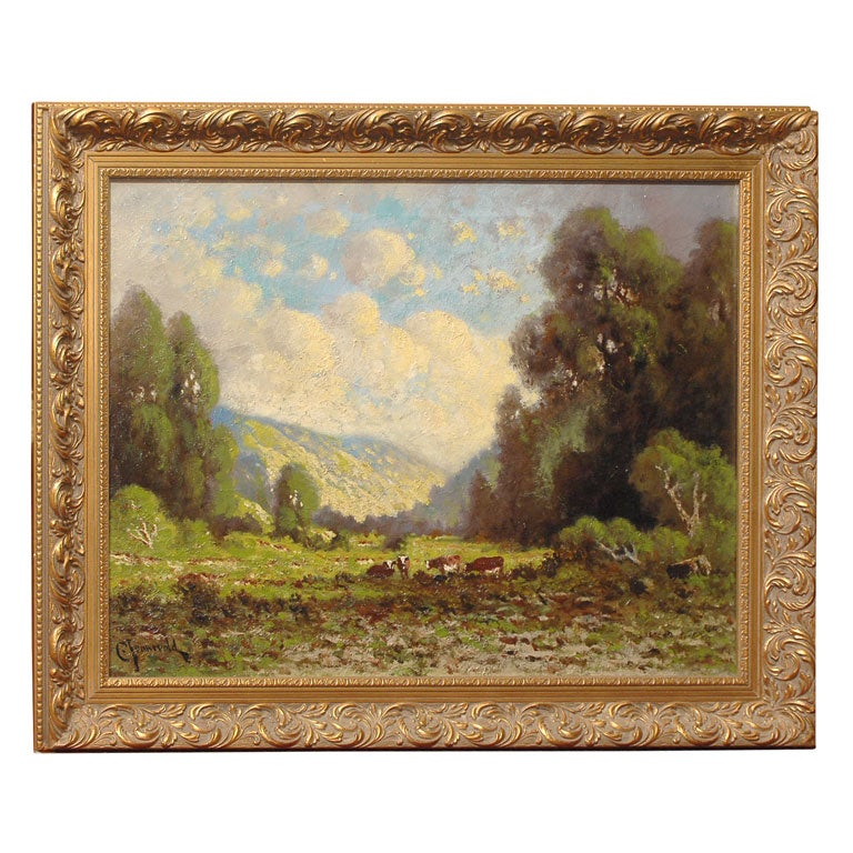 California Impressionist Landscape Painting by Carl Jonnevold