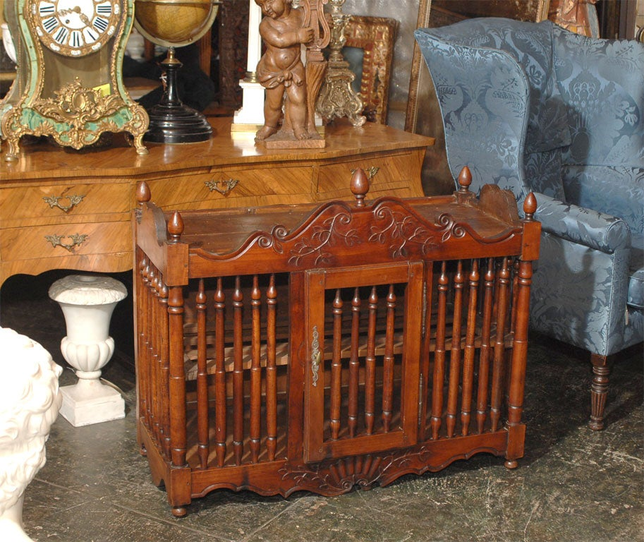 Late 18th century french solid cherry wood cage type for 18th century french cuisine