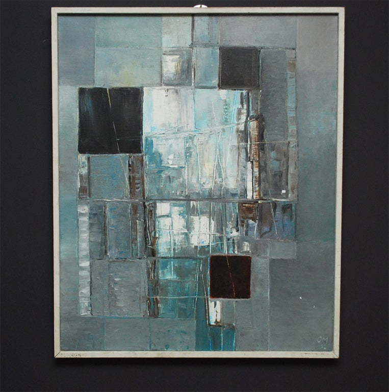 Abstract Painting In Tones Of Grey At 1stdibs