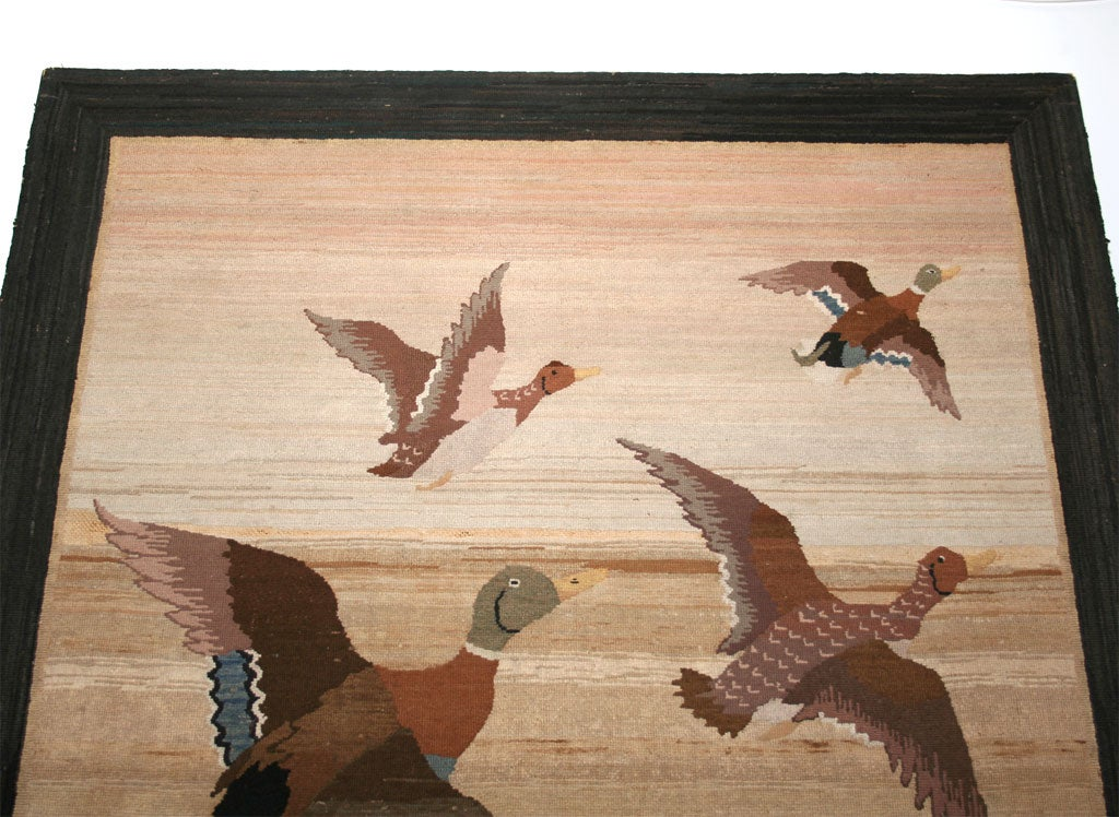 Grenfell Mat, Mallard Ducks in Flight For Sale 1