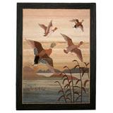 Grenfell Mat, Mallard Ducks in Flight
