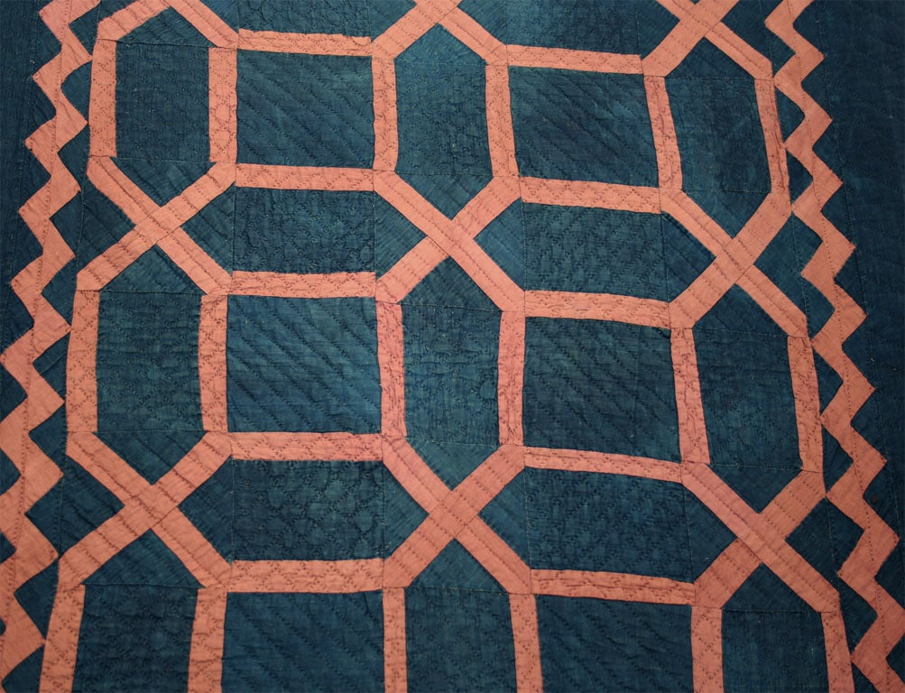 """Maze"" Amish Crib Quilt In Excellent Condition For Sale In New York, NY"