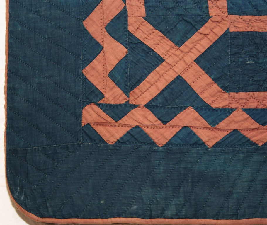 "20th Century ""Maze"" Amish Crib Quilt For Sale"