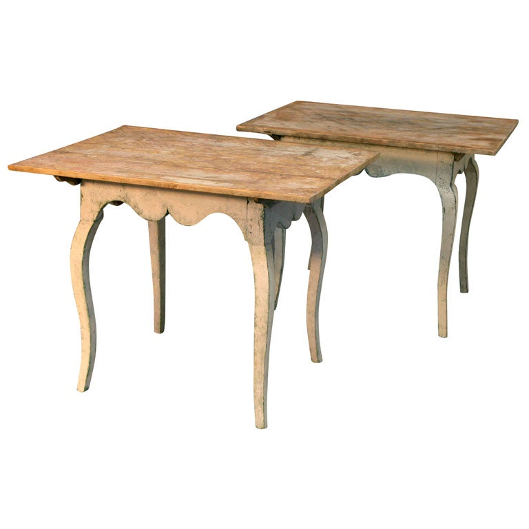 Pair Of Swedish Rococo Tables At 1stdibs