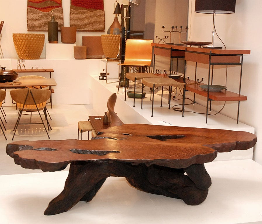 Redwood Burl Coffee Table By Rufus Blunk At 1stdibs