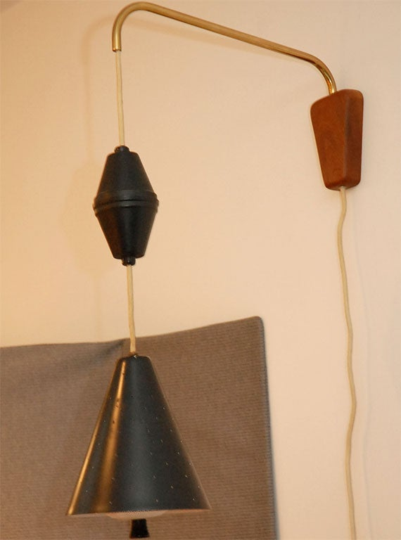 Wall Mounted Task Lamps : Pr. of of wall mount pull down task lamps at 1stdibs